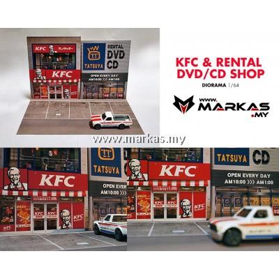 DIORAMA 1/64 - KFC & RENTAL CD/DVD SHOP