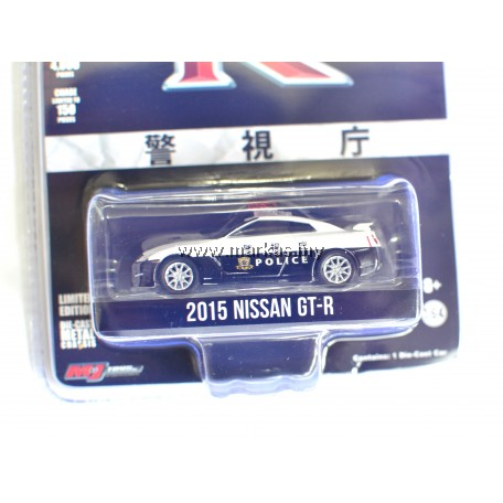 GREENLIGHT X MJJ EXCLUSIVE 2015 NISSAN GT-R R35 JAPANESE POLICE