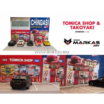 DIORAMA 1/64 - TOMICA SHOP & TAKOYAKI