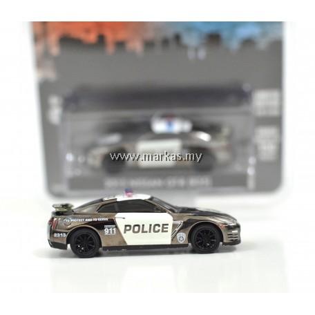 GREENLIGHT X MIJO EXCLUSIVE 2015 NISSAN GT-R R35 US POLICE