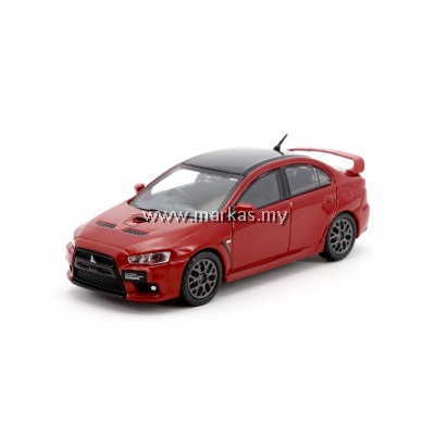 TARMAC WORKS 1/64 MITSUBISHI EVO X FINAL EDITION - RALLY RED