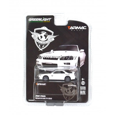 """TARMAC WORKS 1/64 x ROWW x GREENLIGHT COLLECTIBLES NISSAN GT-R R34 """"FOR PAUL"""" EDITION"""