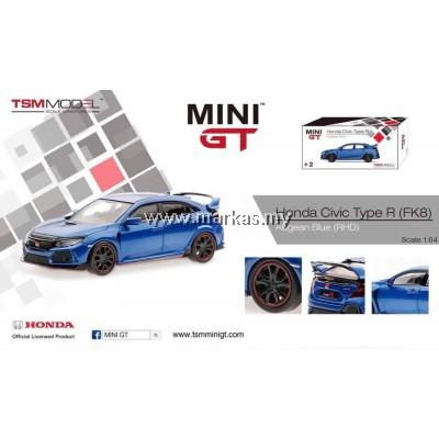 MINI GT 1/64 HONDA CIVIC TYPE R (FK8) AEGEAN BLUE