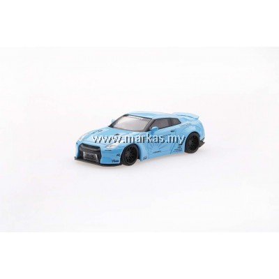 MINI GT 1/64 LB WORKS NISSAN GT-R R35 TYPE 1 REAR WING VER 2 LIGHT BLUE