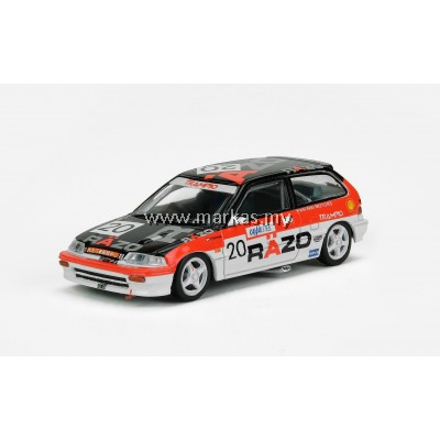 "INNO MODELS INNO64 1/64 HONDA CIVIC EF3 #20 ""RAZO"" MACAU GUIA RACE 1989 (CLASS WINNER)"