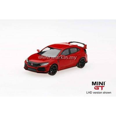 MINI GT 1/64 #12 HONDA CIVIC TYPE R (FK8) RALLY RED (RHD)