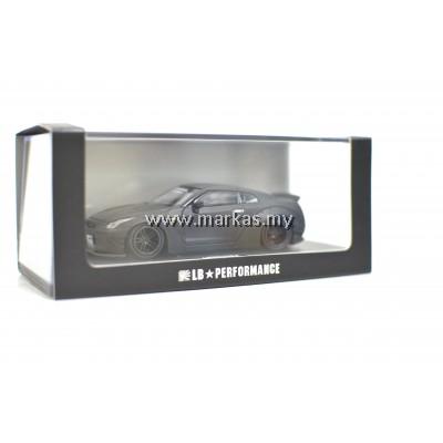 LB PERFORMANCE 1/64 LB NISSAN GT-R MATTE BLACK WITH SPARE RIMS & DECAL