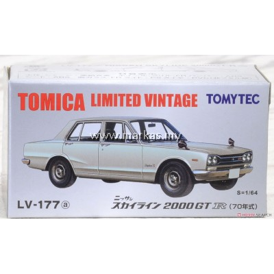 TOMICA LIMITED VINTAGE LV-177A NISSAN SKYLINE 2000GT-R 70 YEAR (SILVER)
