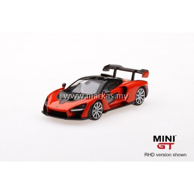 MINI GT 1/64 MCLAREN SENNA MIRA ORANGE (RHD)