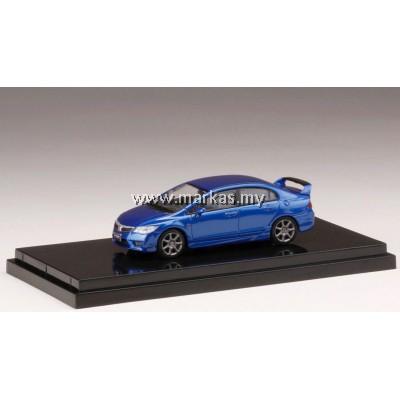 (PO) HOBBY JAPAN X MARK43 1/64 HONDA CIVIC TYPE R (FD2) VIVID BLUE PEARL