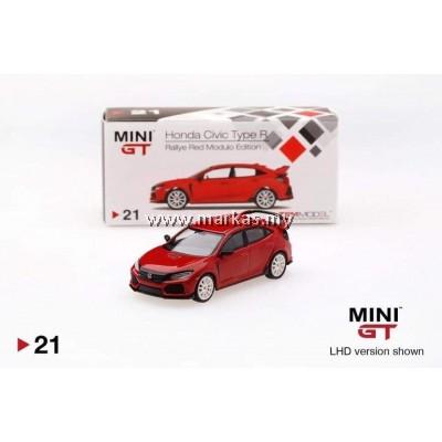 MINI GT 1/64 #21 HONDA CIVIC TYPE R (FK8) RALLYE RED MODULO EDITION RHD - INDONESIA EXCLUSIVE