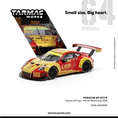 (PO) TARMAC WORKS 1/64 PORSCHE 911 GT3 R MACAU GT CUP #912