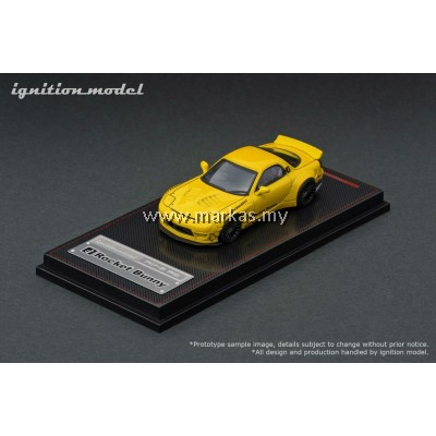 IGNITION MODEL 1/64 ROCKET BUNNY RX-7 (FD3S) YELLOW