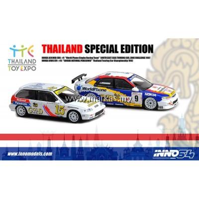 INNO MODELS INNO64 1/64 THAILAND SPECIAL EDITION - HONDA ACCORD CD6 & HONDA CIVIC EF9 *3 STICKERS REQUIRED