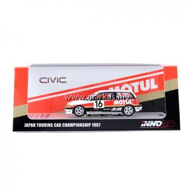 """INNO MODELS INNO64 1/64 HONDA CIVIC Si E-AT Gr.A #16 """"MUGEN MOTUL"""" JTC 1987"""