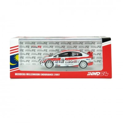 INNO MODELS INNO64 1/64 HONDA CIVIC TYPE R FD2 MERDEKA EXCLUSIVE (MALAYSIA SPECIAL) *NO STICKER REQUIRED