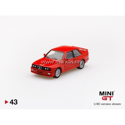 (PO) MINI GT 1/64 #43 BMW M3 E30 RED (RHD)