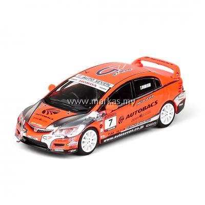 INNO MODELS INNO64 1/64 HONDA CIVIC TYPE-R FD2 #7 AUTOBACS MUGEN POWERCUP CIVIC ONE MAKE RACE 2012