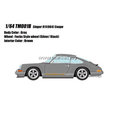 (PO) MAKE UP 1/64 TM001B PORSCHE SINGER 911 (964) COUPE GRAY