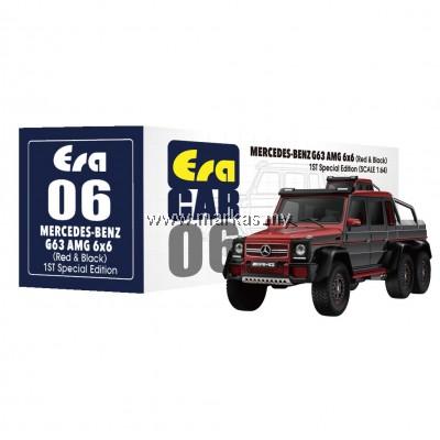 (PO) ERA CAR 1/64 #06 MERCEDES-BENZ G63 AMG 6x6 1ST SPECIAL EDITION (RED BLACK)