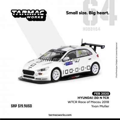 (PO) TARMAC WORKS 1/64 HYUNDAI i30 N TCR WTCR RACE OF MACAU 2018