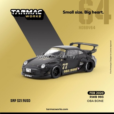 (PO) TARMAC WORKS 1/64 PORSCHE RWB 993 OBA BONE