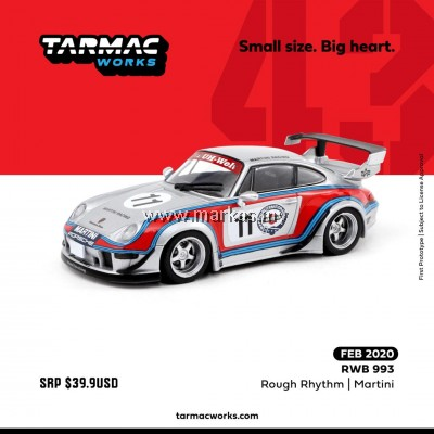 (PO) TARMAC WORKS 1/43 PORSCHE RWB 993 ROUGH RHYTHM MARTINI #11