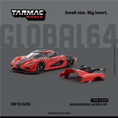 (PO) TARMAC WORKS GLOBAL64 1/64 KOENIGSEGG AGERA RS RED/BLACK