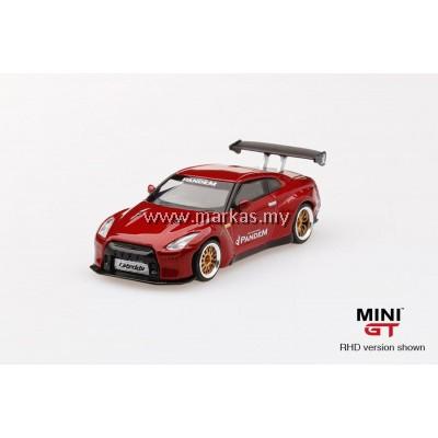(PO) MINI GT 1/64 PANDEM NISSAN GTR R35 GT WING LAVA RED