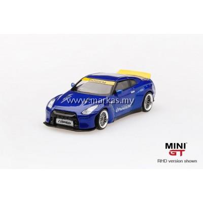 (PO) MINI GT 1/64 PANDEM NISSAN GTR R35 DUCKTAIL VELOCITY BLUE