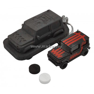 (PO) ERA CAR X 4A 1/64 SUZUKI JIMNY SIERRA WHITE BOX - BLACK MATTE RED