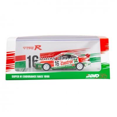 "INNO MODELS INNO64 1/64 HONDA INTEGRA TYPE R DC2 #16 ""CASTROL"" SUPER N1 ENDURANCE RACE 1996"