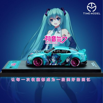 (PO) TIME MODEL 1/64 LB☆WORKS NISSAN GT-R R35 HATSUNE MIKU DUCKTAIL