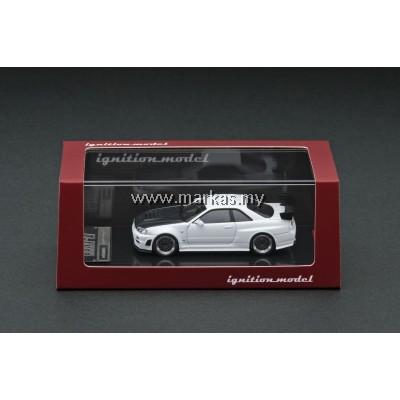 (PO) IGNITION MODEL 1/64 NISMO R34 GT-R Z TUNE WHITE