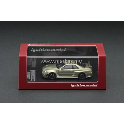 (PO) IGNITION MODEL 1/64 NISMO R34 GT-R Z TUNE GREEN METALLIC