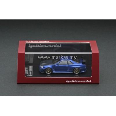 (PO) IGNITION MODEL 1/64 NISMO R34 GT-R Z TUNE BLUE METALLIC