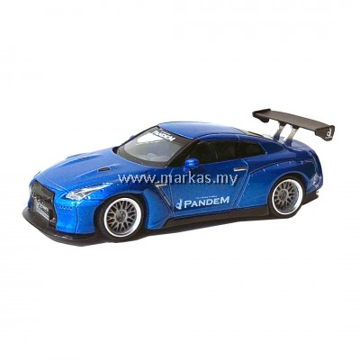 (PO) MINI GT 1/64 JAPAN EXCLUSIVE LB WORKS NISSAN GT-R PANDEM R35 BLUE