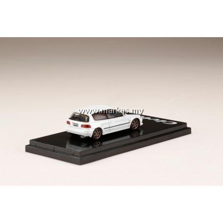 (PO) HOBBY JAPAN 1/64 HONDA CIVIC EG6 WHITE CARBON BONNET