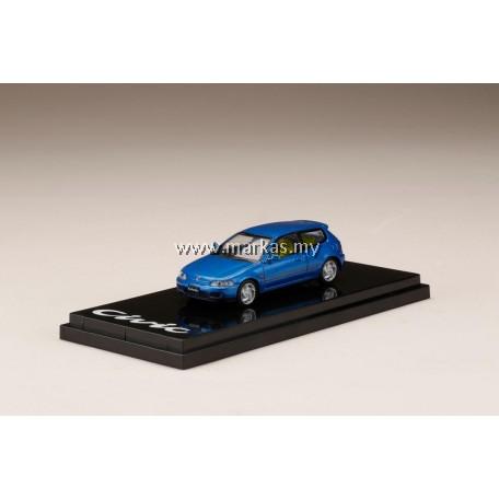 (PO) HOBBY JAPAN 1/64 HONDA CIVIC EG6 CAPTIVA BLUE PEARL