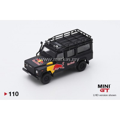 (PO) MINI GT #110 1/64 LAND ROVER DEFENDER 110 RED BULL LUKA