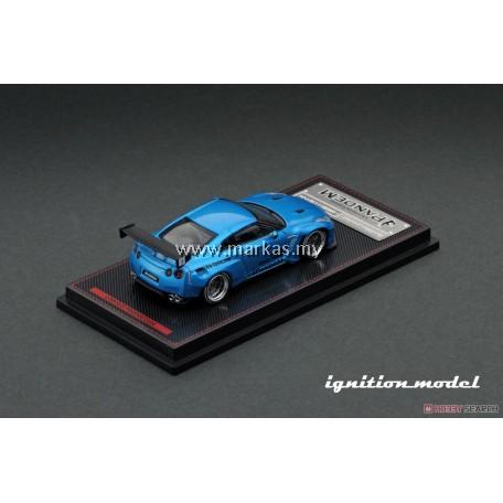 IGNITION MODEL 1/64 PANDEM R35 GT-R BLUE METALLIC